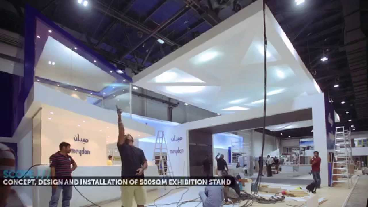 Exhibition Stand Interactive : Visionate meydan llc cityscape making of
