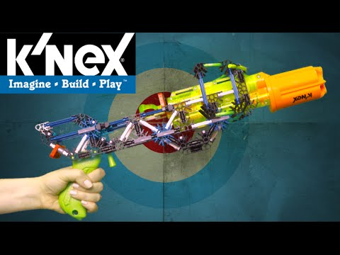 Super Strike RotoShot Blaster Building Set K'NEX K-FORCE 201 Pieces