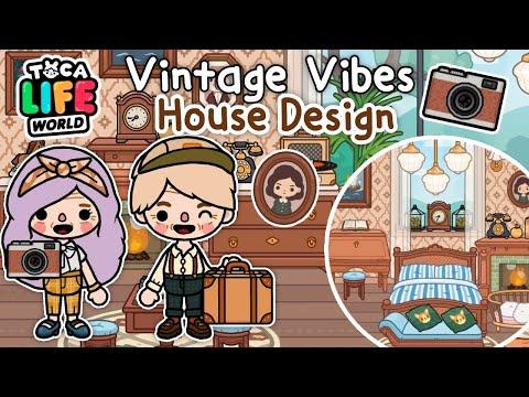 NEW VINTAGE VIBES HOUSE DESIGN ☺️🏠✨| Mondern Mansion Makover | Toca Life World 🌏