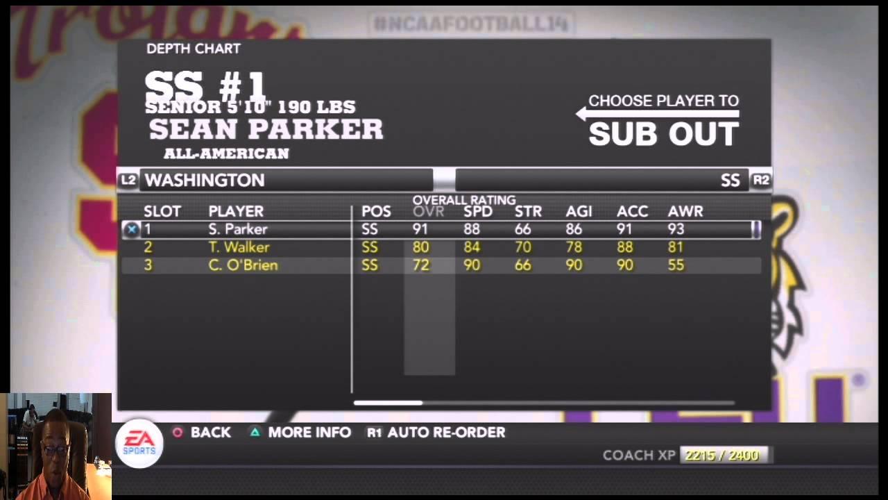 Ncaa Football 14 Introduction To The Washington Huskies Depth Chart