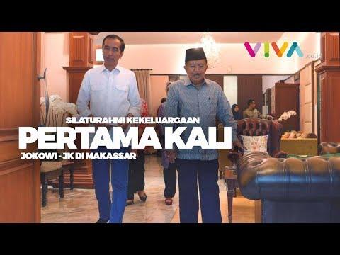 Pertama Kali Datangi Rumah Jusuf Kalla di Makassar, Ini Kata Jokowi