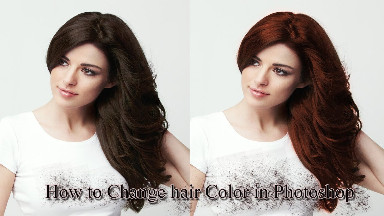 How To Change Hair Color In Photoshop Youtube