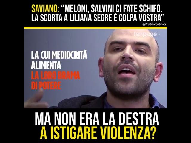 Giorgia Meloni: Adesso basta Saviano, Il tuo odio irrefrenabile viene sconfitto dagli italiani