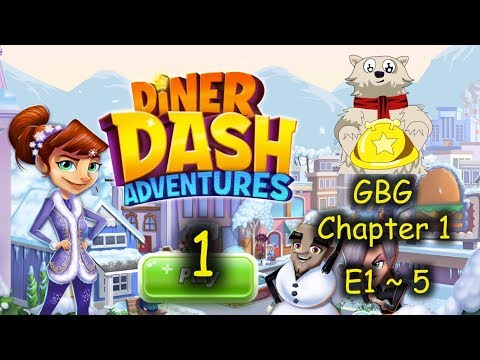 C1 E1~5 - Flo Is Back In DinerTown (Diner Dash Adventure - The Greasy Spoon Diner = Part 1)