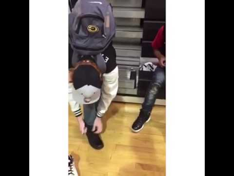 74d363690cce Bullied Kid Gets New Pair of Shoes - YouTube