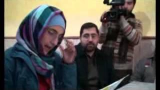 Kermanies kids welcomed Asia To Gaza caravan in the city of  Kerman, Iran
