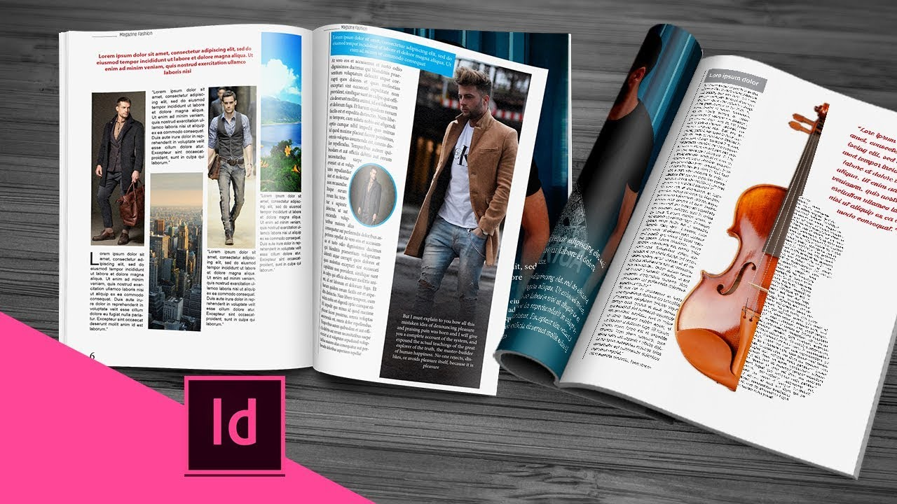 maquette magazine indesign