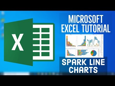 Microsoft Excel Tutorial - Spark Line Charts In MS Excel