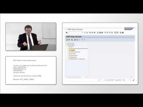 SAP - Einführung in die ABAP Programmierung | Modularisierung und Benutzerdialoge |RFC und BAPI