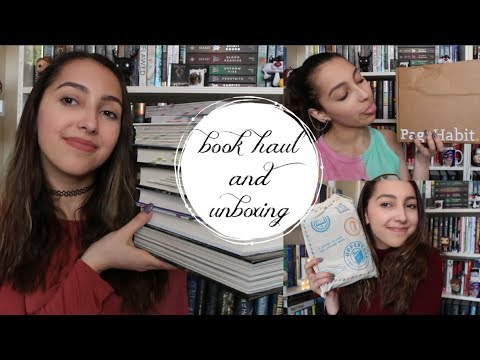 march 2018 book haul and unboxings //