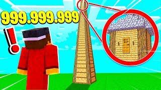 ДОМ ВЫСОТОЙ 999.999.999 БОКОВ ВВЕРХ В МАЙНКРАФТЕ! КАК ТУДА ЗАБРАТЬСЯ? ТРОЛЛИНГ