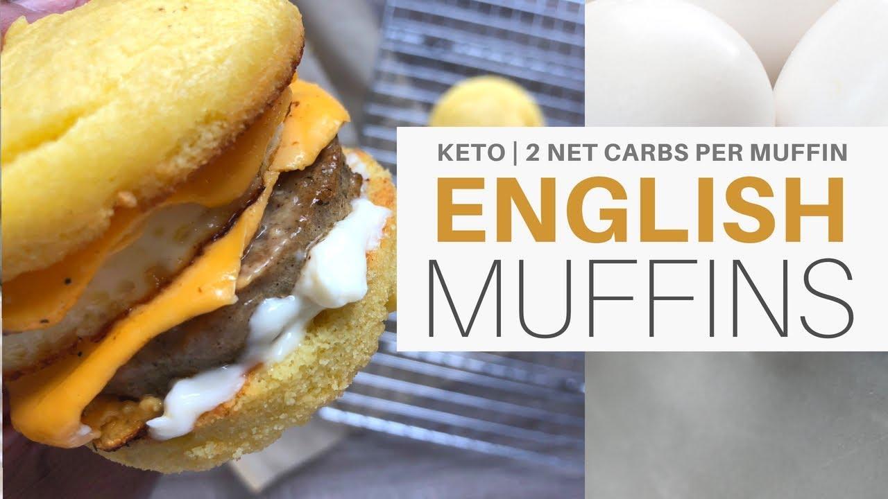 english muffins | 2 net carbs| breakfast sandwich | #keto | #lchf