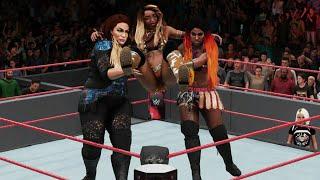 WWE 2K18 - Nia Jax (return) & Ember Moon vs Alicia Fox & Mickie James | RAW