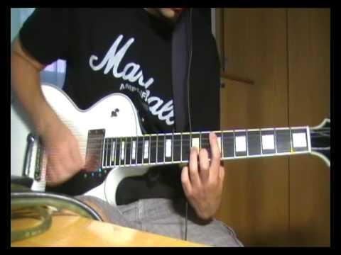Deftones - knife party (guitar cover) edwards les paul ...
