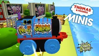 GRAFFITI GORDON MINIS in TOBY WORLD! Thomas & Friends Minis #43 By Budge Studios