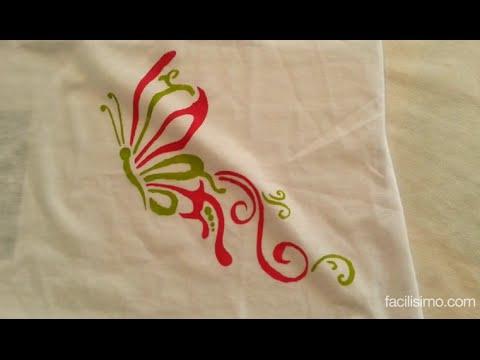 Cómo Pintar Una Camiseta Con Plantilla Facilisimocom Youtube