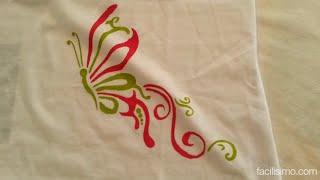 Cómo pintar una camiseta con plantilla   facilisimo.com