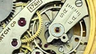 Bulova 10K Rolled Gold Plate Pocket Watch w Chain, 17AH