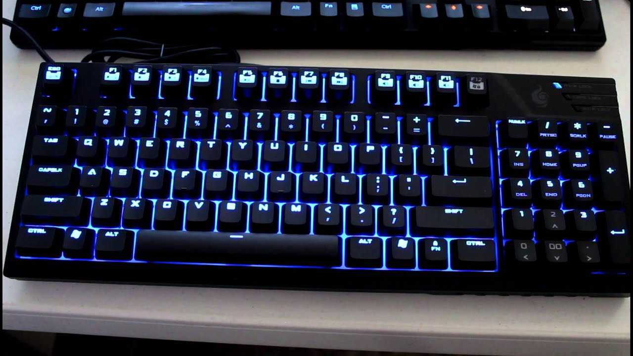 1445b16079a Cooler Master Storm Quickfire TK lighting options - YouTube