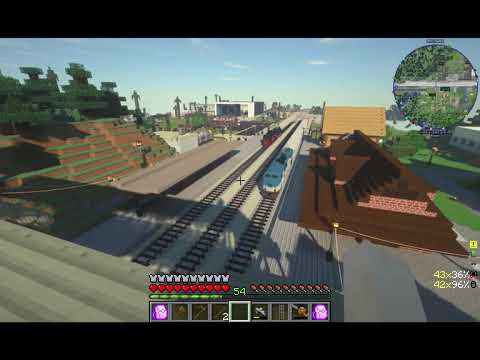 Minecraft train travel (Immersive Railroading) - YouTube