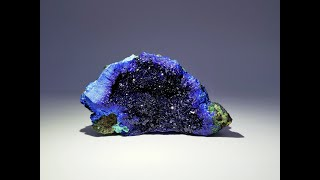 Azurite and Malachite from Liufengshan Mine