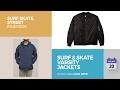 Surf & Skate Varsity Jackets Surf Skate, Street Fashion