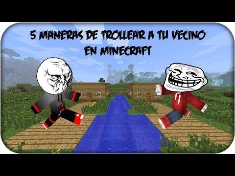 5 Maneras De Trollear A Tu Vecino En Minecraft   Corto Minecraft