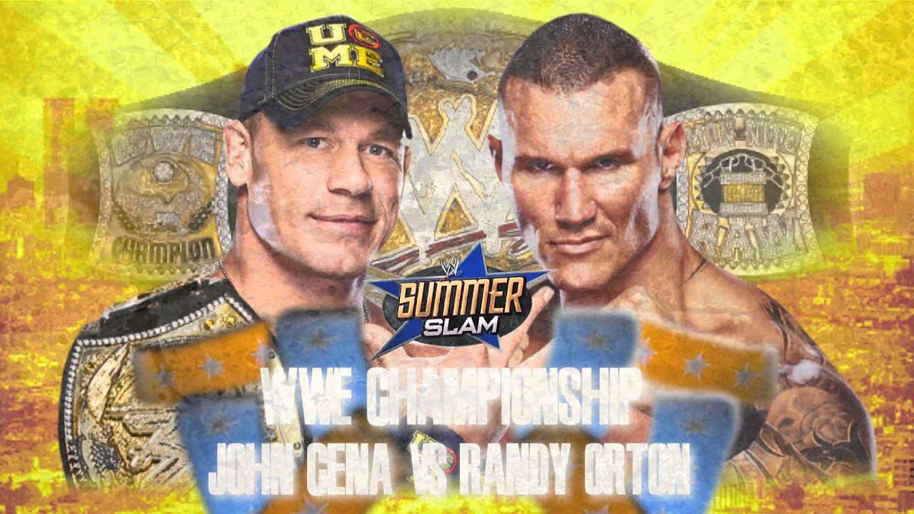 WWE Summerslam 2013- WWE Championship John Cena© Vs Randy ...  WWE Summerslam ...