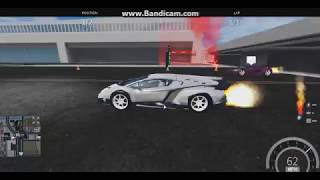 Roblox Vehicle Simulator Lamborghini Veneno Quarter Mile x3