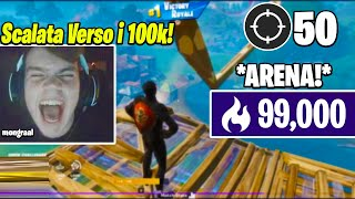 Mongraal Prova La *SCALATA* Verso i 100.000 Punti in Arena Facendo 50 B0MBE in 2 Partite! (Fortnite)
