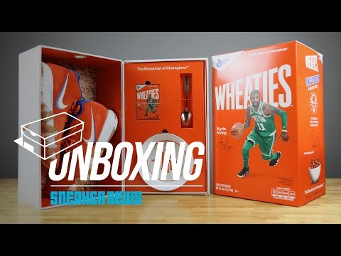 hot sale online 0a087 e490b Unboxing The Wheaties Nike Kyrie 4 Package - YouTube