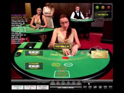 Grosvenor Live 3 Card Poker