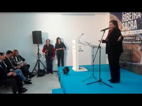 María do Ceo interpreta en Os Peares o himno de la Ribeira Sacra
