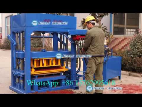 QT4-30 hydraulic diesel block making machine colorful paver available