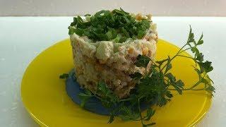 Салат с красной рыбой Простой рецепт очень вкусного салата
