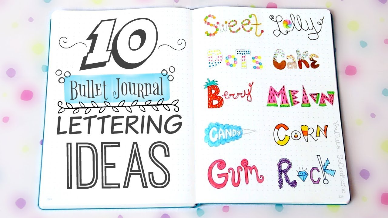 10 BULLET JOURNAL HANDWRITING IDEAS