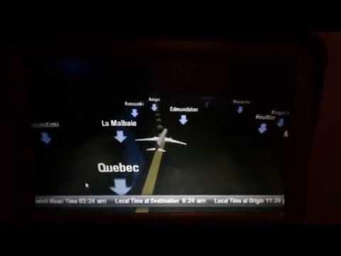 Qatar QR764 In-Flight Navigation Routing Video 1 of 2