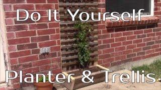 Rustic & Cheap Diy Trellis Planter