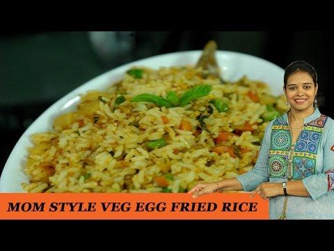 How to make vegetable egg fried rice