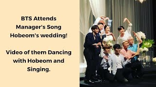 Video BTS Dancing & enjoying at their Manager's Hobeom's Wedding Today [방탄소년단/防弾少年团] download MP3, 3GP, MP4, WEBM, AVI, FLV Juli 2018