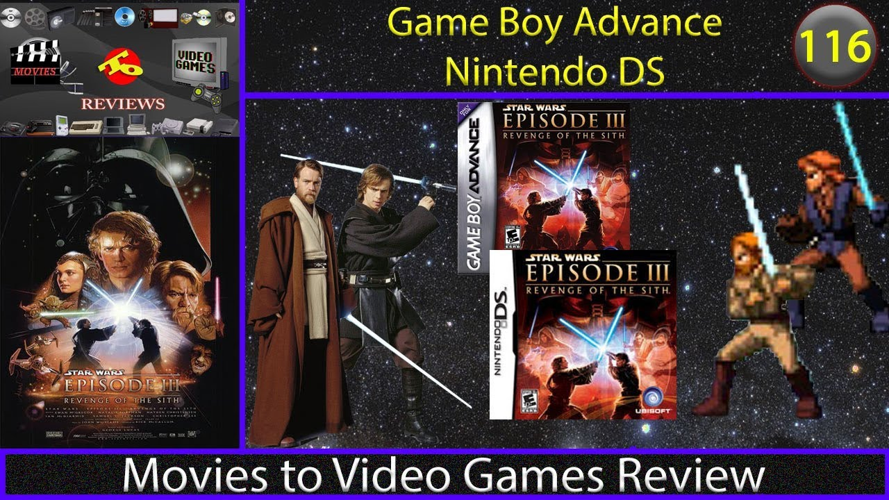 Movies To Video Games Review Star Wars Episode Iii Revenge Of The Sith Gba Ds Youtube