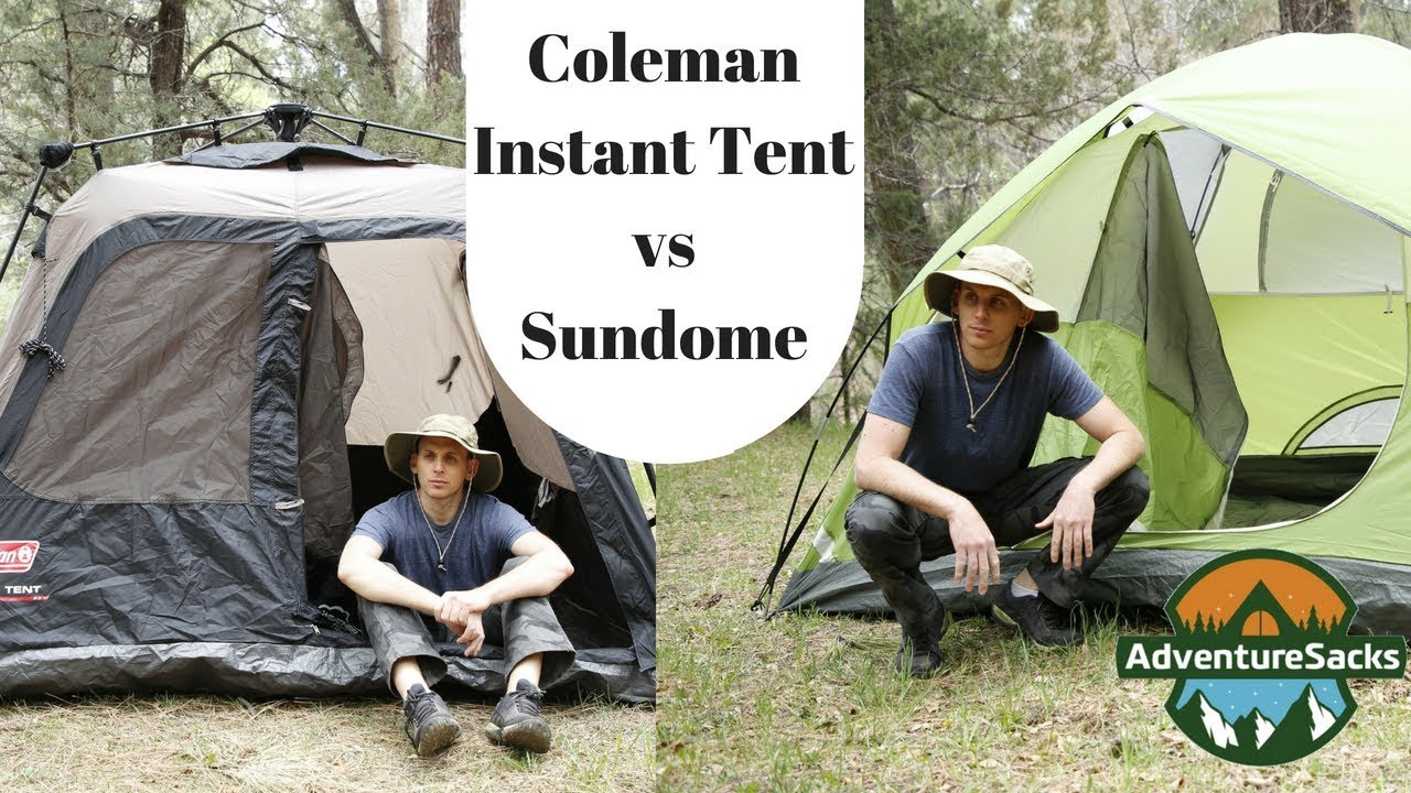 dd5c6a54470 Coleman Sundome 4 Person Tent vs Coleman 4 Person Instant Tent - YouTube