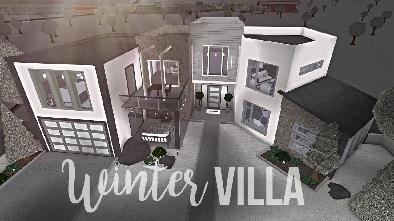 Bloxburg Winter Villa 113k Youtube
