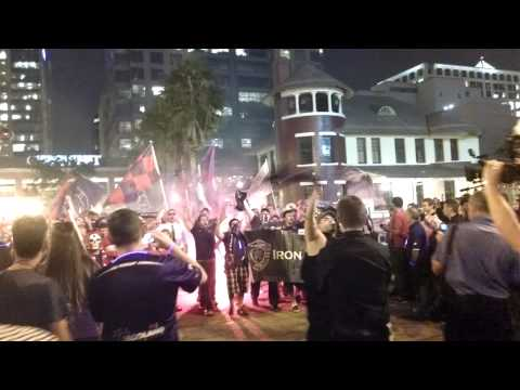 Orlando City Soccer supporters group match