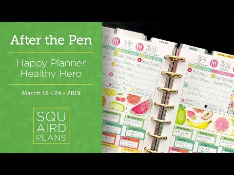 Watercolor Fruits :: After the Pen :: Happy Planner Healthy Hero