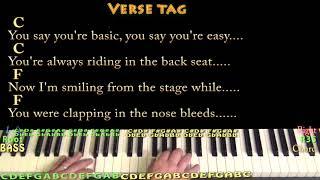 Thunder (Imagine Dragons) Piano Cover Lesson with Chords/Lyrics - Arpeggios
