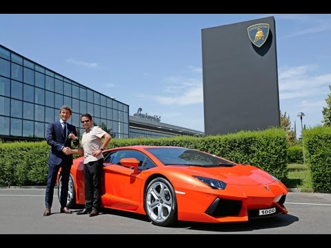 Lamborghini Aventador manufacturing plant - Courtesy of Force 1