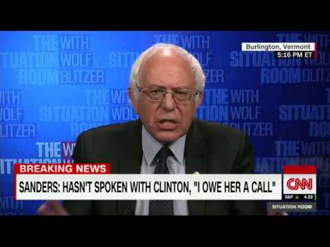 Bernie Sanders gives first TV interview since Donald Trump election win