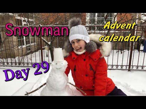 Advent Calendar 2020. День 29. Снеговик.  29 Day. Snowmen