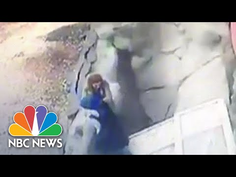 Sidewalk Collapses In Turkey, Swallowing Passersby | NBC News